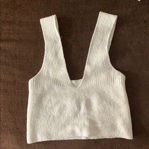Urban outfitters sugar cropped v-neck tank top